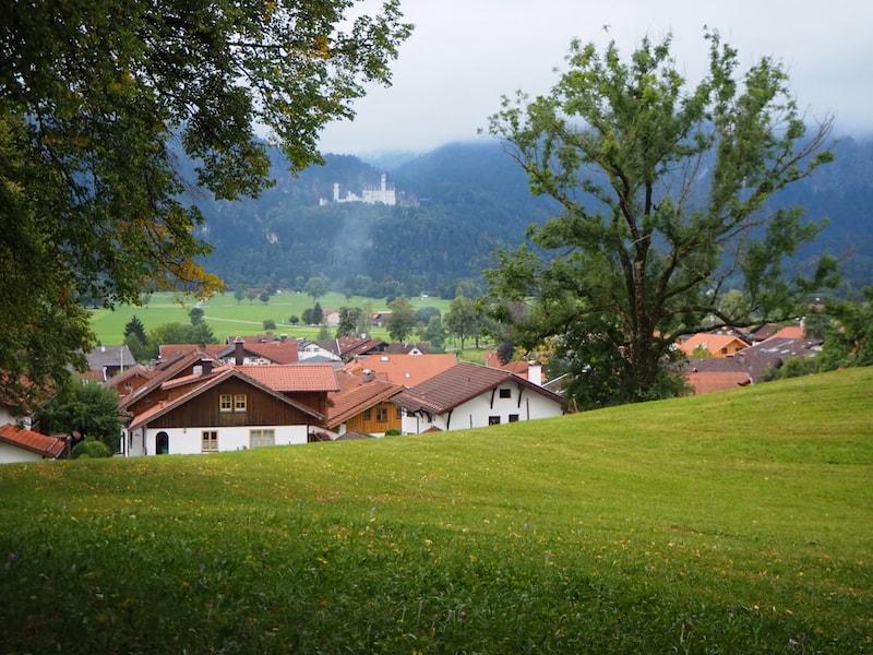 ... auch von hier, im Park von Schongau ..