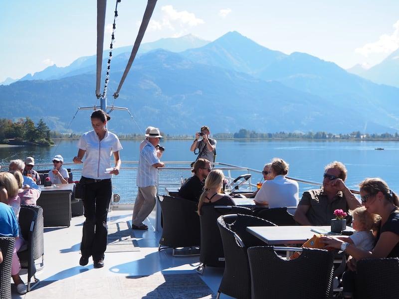 """Angesagt: Die """"Rooftop Bar"""" am Panoramaschiff von Zell am See ..."""