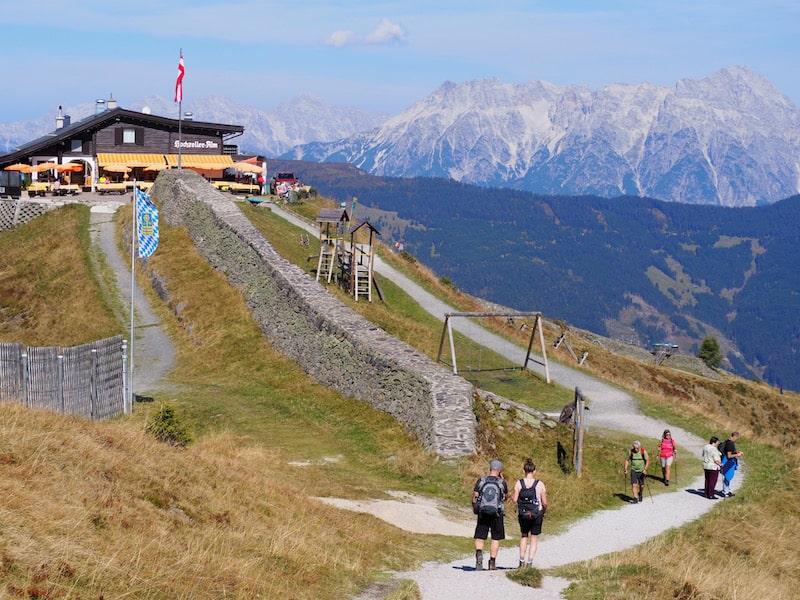 ... auf dem kurzen Panoramaweg von der Schmittenhöhe bis zur Sonnkogelalm ...