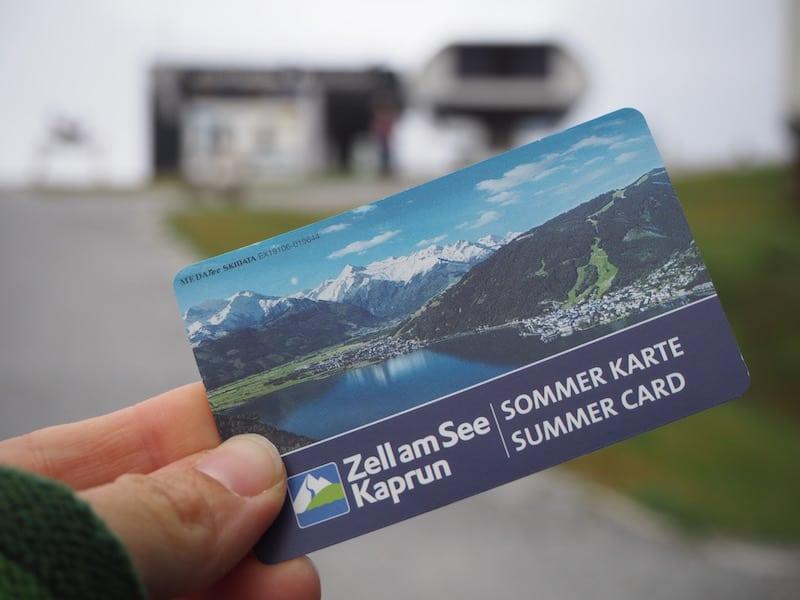 ... dank Sommer Card ist weiter nichts für Berg- und Talfahrten zu bezahlen ...