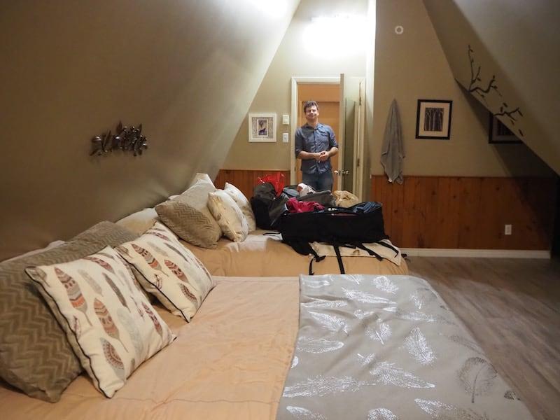 ... nur unser Zimmer (in Form eines Tipis!) ist überraschend leer ...