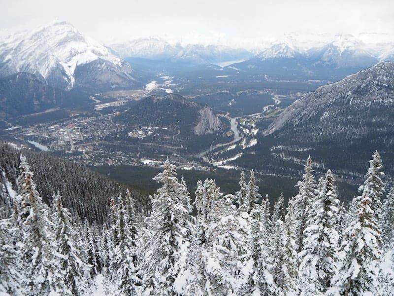 ... der Blick zurück auf Banff und Umgebung ist schließlich nicht zu verachten ...