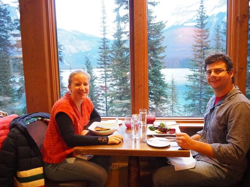 ... Mahlzeit mit Glücksgefühlen pur in der Emerald Lake Lodge!