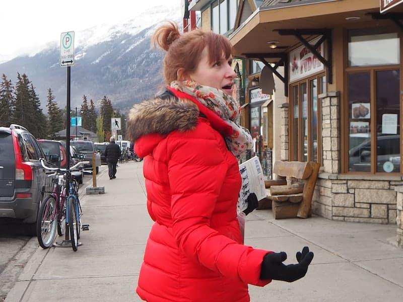 Estelle, die liebenswerte Gründerin und Guide auf unserer Jasper Food Tour ...