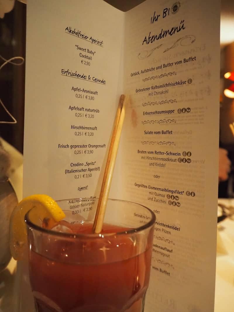"""""""Sweet-Baby-Cocktail"""" zum Einstieg in den Abend:"""