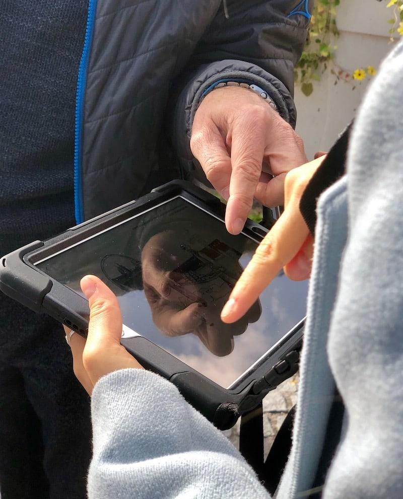Die Handhabung der App über die iPads der Stadt Tulln ist einfach ...