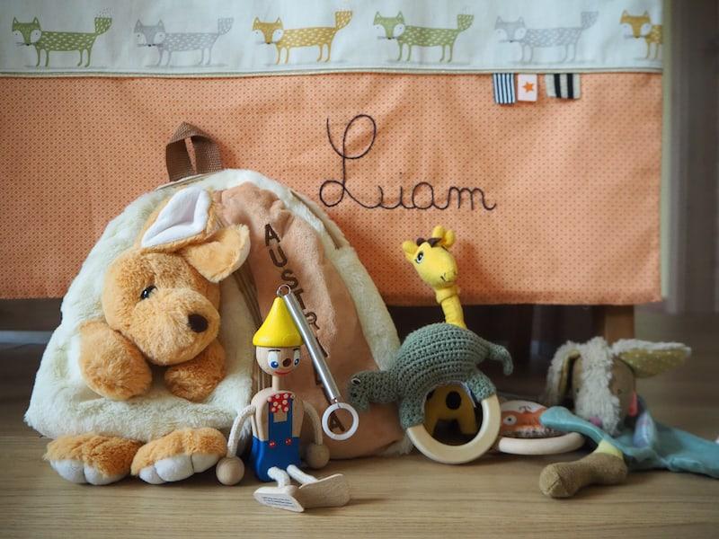 Der Känguru-Rucksack ist ein Weihnachtsgeschenk der Großeltern aus Australien: Natürlich muss der auch irgendwie mit :D
