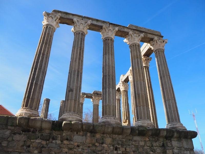 Vom Tempel der Diana ...