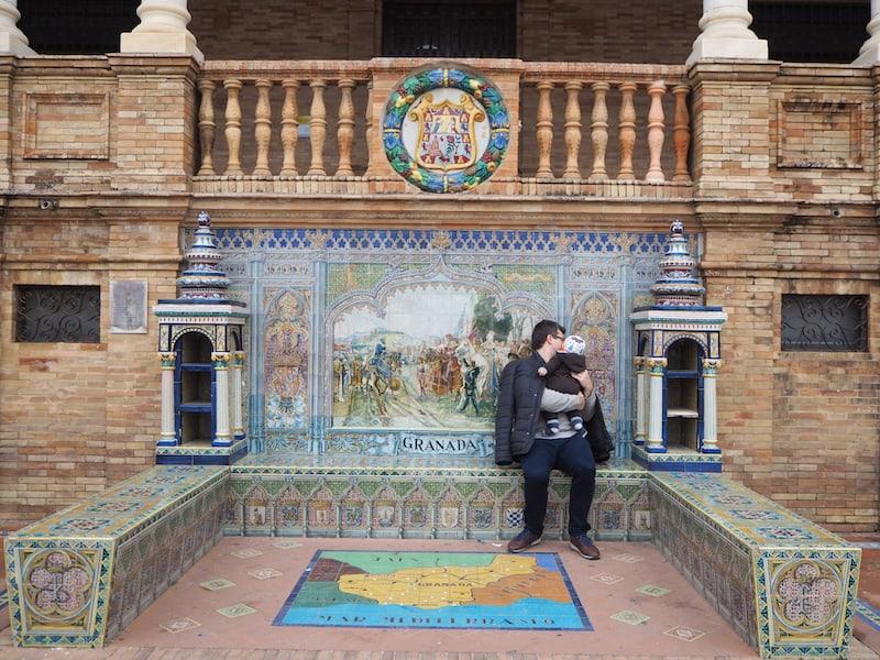 ... wenig später nehmen wir hier mit Liam nahe Córdoba Platz ...