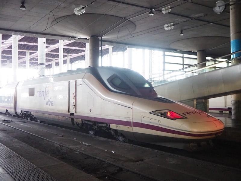 Unsere Anreise nach Madrid mit dem AVE (spanischen Hochgeschwindigkeitszug aus Sevilla) dauert nur gut zwei Stunden. Unkompliziert und bequem!