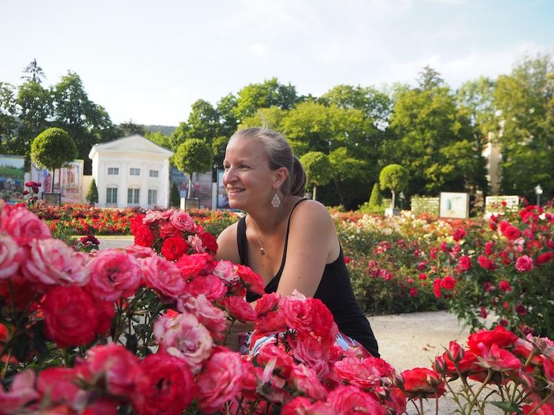... die überall duftenden Rosen sowieso!