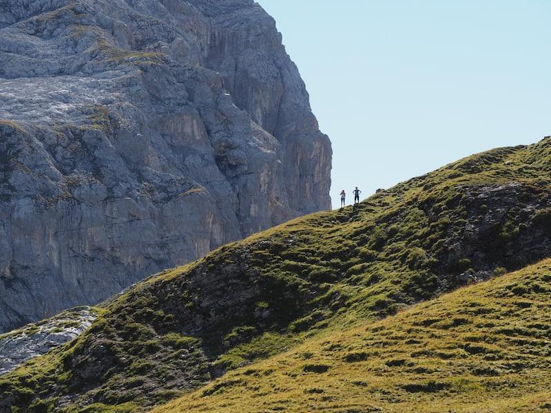 ... die letzten Höhenmeter wollen zu Fuß bewältigt werden ...
