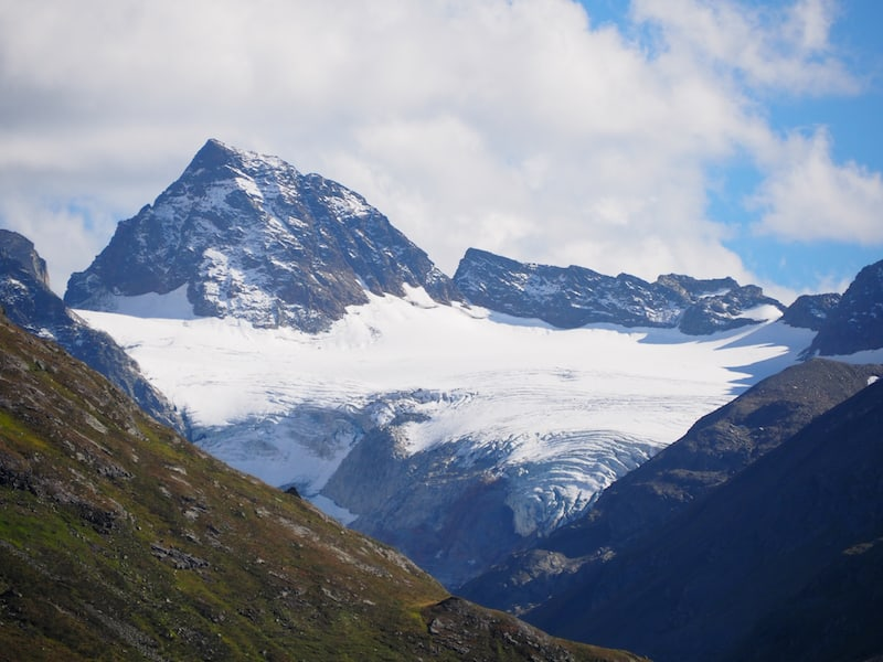 Piz Buin and its glacier up close.