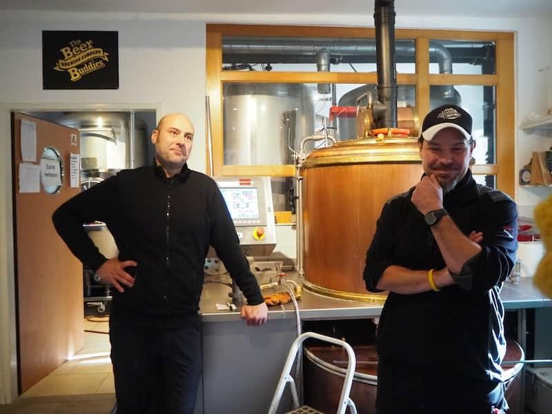 """Christian Semper und Andreas Weilhartner (von rechts nach links) nennen sich """"The Beer Buddies""""!"""