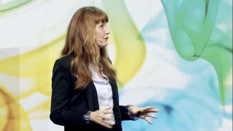 Oona Strathern-Horx beim diesjährigen, virtuellen Unternehmerinnenkongress.