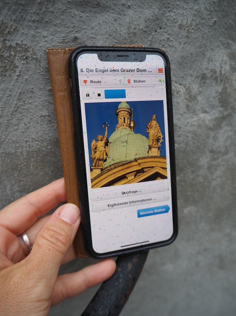 """""""Grazer Grazien"""" in der Anzeige auf meinem Smartphone."""